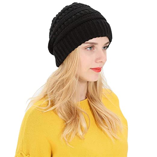 8781d1db240 Image Unavailable. Image not available for. Color  CUCUHAM Women Men Autumn Winter  Beanie Hat Knitting Wool Warm Hats ...