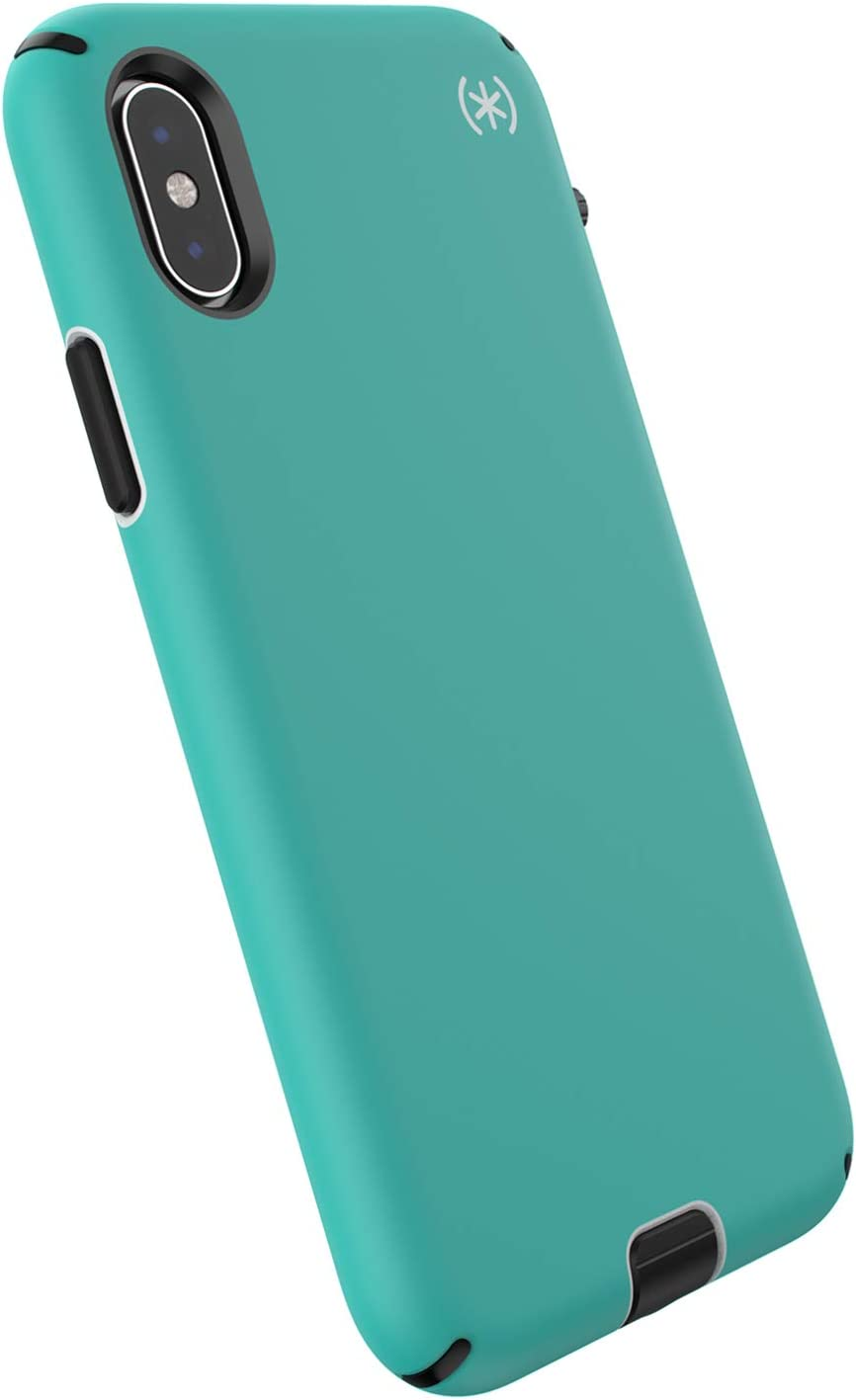 Speck Products Compatible Phone Case for Apple iPhone XS/iPhone X, Presidio Sport Case, Jet Ski Teal/Dolphin Grey/Black