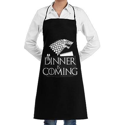 Unisex Adjustable Chef Apron Pocket Many Cats Bib Apron Kitchen Apron Adjustable Extra Long Ties BBQ Baking Cooking-Black Fan Shop