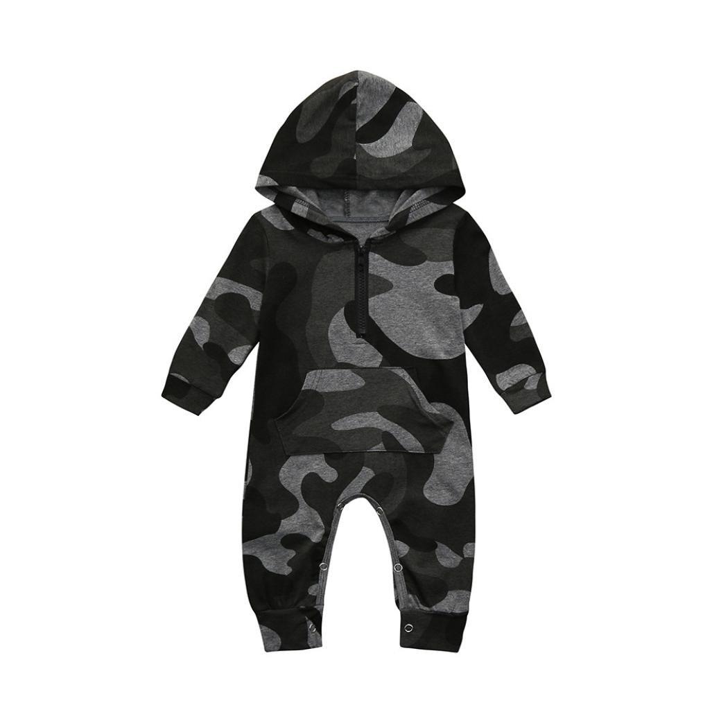 Huihong Baby Jungen Mä dchen  Camouflage Strampler Neue Mode Baby mit Kapuze Overall Kleidung Outfits Huihong4096