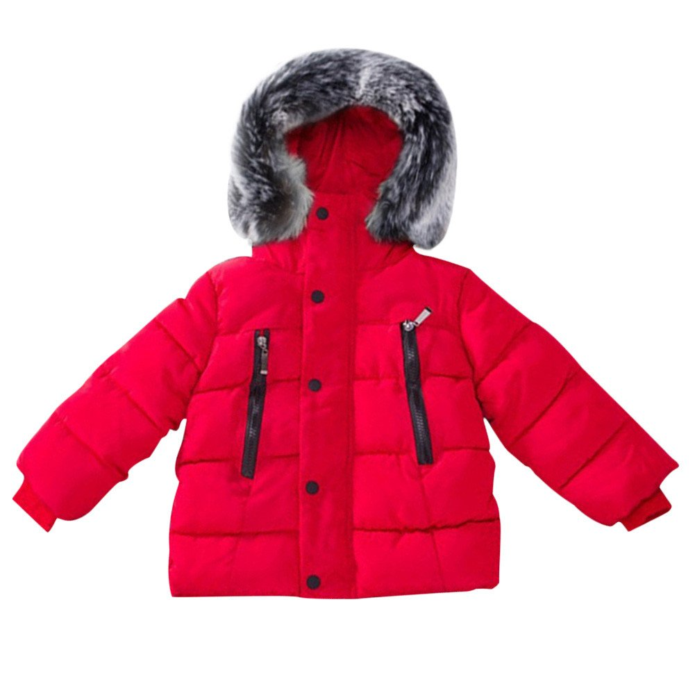 Samber Baby Boy Thickened Down Jacket Winter Cotton Hooded Coat Kids Casual Outerwear