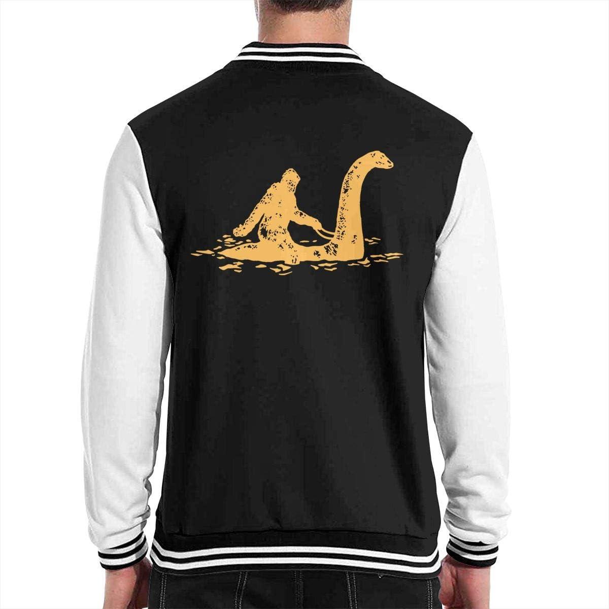 JJKKFG-H Sasquatch Bigfoot Mens Fashion Baseball Uniform Jacket Sport Coat