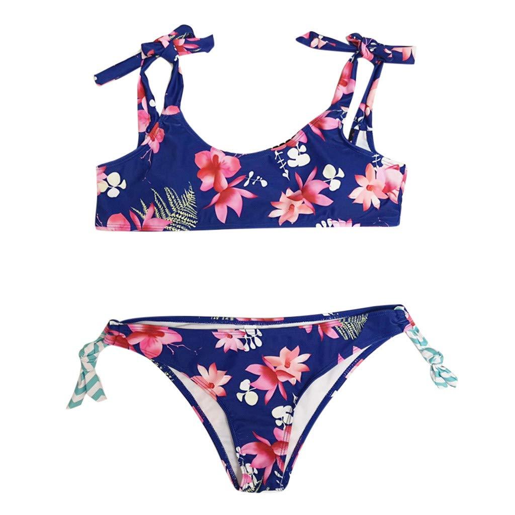 9ee56ff7e690 Cinnamou Trajes de Playa Mujer Estampado Conjuntos de Bikini Ropa de ...