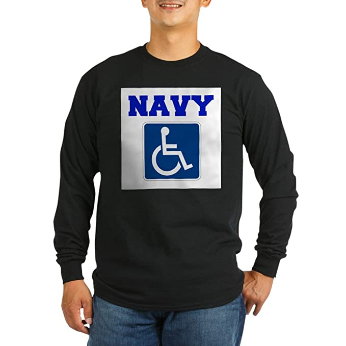 49266c8349 CafePress - Navy Disabled Handicapped Veteran Long Sleeve T-Sh - Unisex  Cotton Long Sleeve T-Shirt: Amazon.ca: Clothing & Accessories