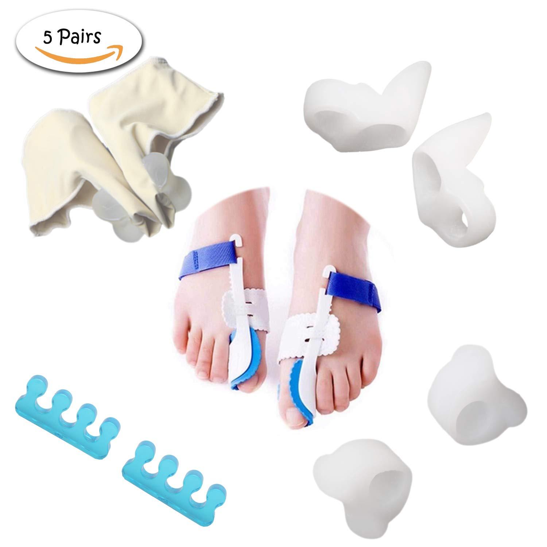 Orthopedic Bunion Corrector Kit for Women 10 Pcs-Cure Pain in Big Toe Joint Hallux Valgus Hammer Toe Splint Aid Surgery Treatment