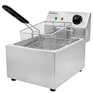 Chef's Supreme - 120v 10 lbs. Countertop Fryer w/ 1 Basket