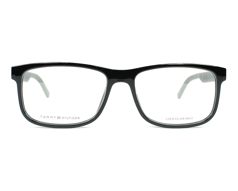 Amazon.com: Marco óptico acetato de Tommy Hilfiger Negro ...