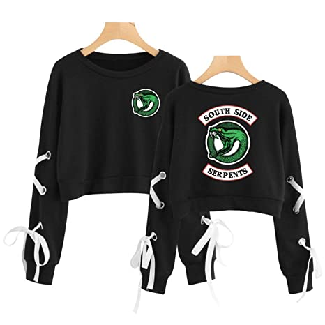 Amazon.com: Southside Serpents Sweater Crop Tops Cotton ...