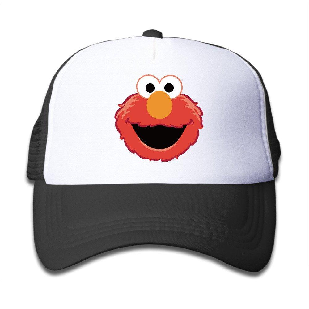 Kid Adjustable The Muppet Elmo Face Mesh Breatheable Trucker Hat