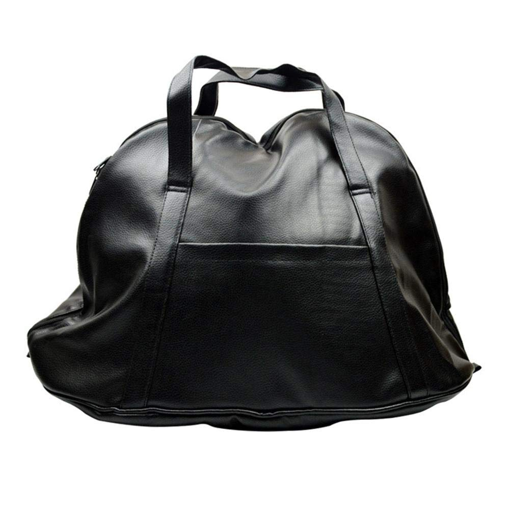 Motorcycle Helmet Bag,PU Leather Motorbike Storage Luggage Waterproof Portable Carry Bag for Outdoor Travel Storage Bag, Fits Motorcycle Helmets, Bike Accessories, Sport & Basketballs, Jackets Gentman