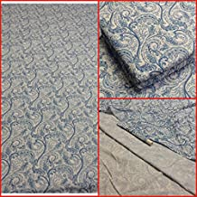Ultra Soft 4 PC KING Waterbed Printed Sheet set FREE Stay Tuck Poles (Paisley Blue)