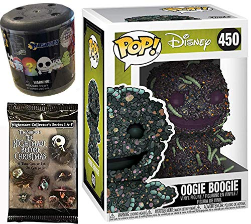Creepy Crawly Figure Nightmare Before Christmas Oogie Boogie Bugs Pop! NBC Vinyl #450 Bundled with + Fash EMS Soft Mini Blind Character Trick-Or-Treat Halloweentown Movie Trading Cards Pack 3 Items