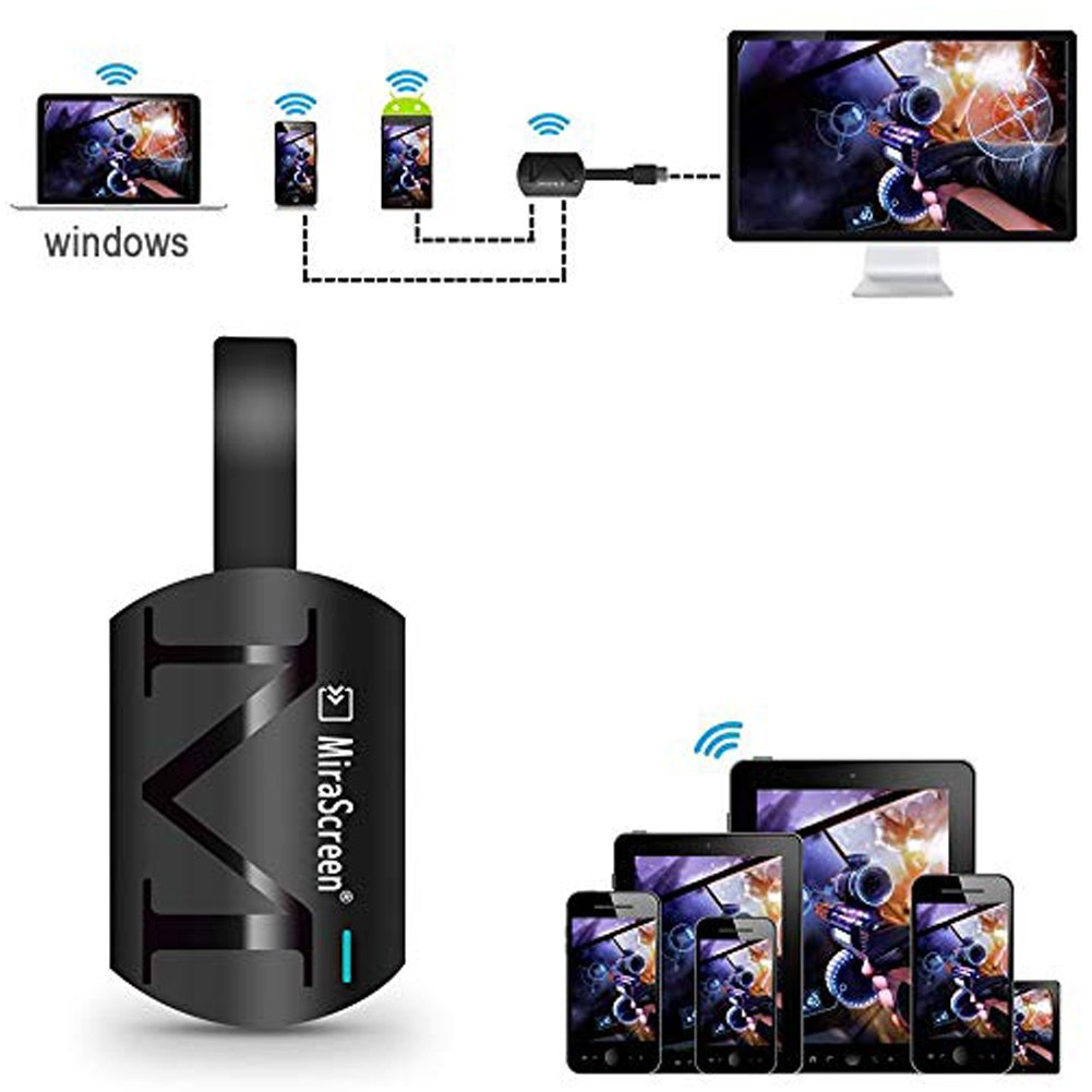 JoyFan G4/ Mirascreen schermo wireless 2.4/ GHz Dongle WiFi Display HD 1920/ * 1080P HDMI Miracast per DLNA AirPlay//iOS//Android//Windows