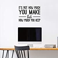 Vinyl Wall Art Decal - It's Not How Much You Make But How Much You Keep - 17
