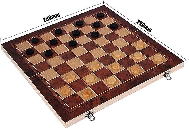 Tablero de ajedrez magnético Plegable de Madera Juego de Mesa Juego de Almacenamiento Slots Juego Viajes Entretenimiento Regalo (Color : A): Amazon.es: Hogar