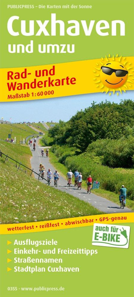 Cuxhaven und umzu (mit Stadtplan): Rad- und Wanderkarte mit Ausflugszielen, Einkehr- und Freizeittipps, mit Stadtplan (1:18500), wetterfest, ... 1:60000. (Rad- und Wanderkarte / RuWK) Landkarte – Folded Map, 1. Februar 2018 PUBLICPRESS 3747303552 Niedersac
