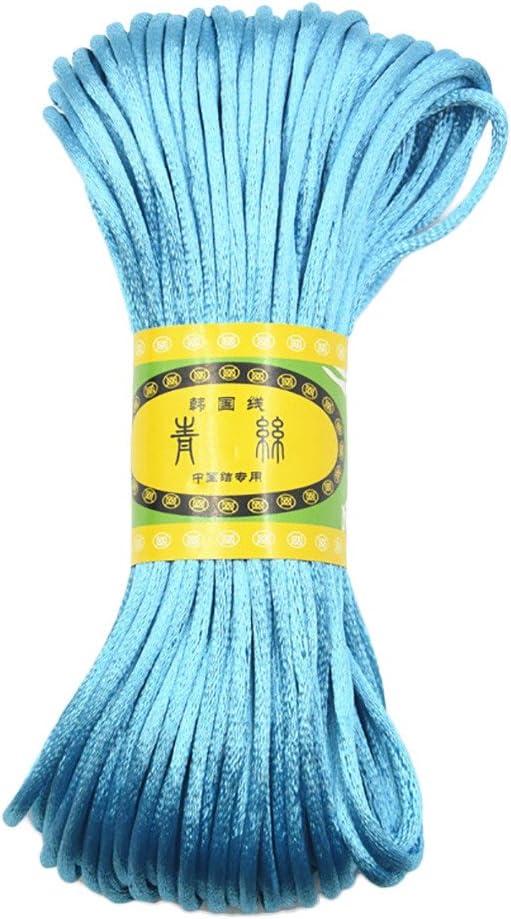 JaneDream Chinese Knot Satin Nylon Braided Cord Macrame Beading Rattail Cords Beige