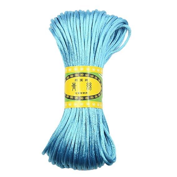 JaneDream Chinese Knot Satin Nylon Braided Cord Macrame Beading ...