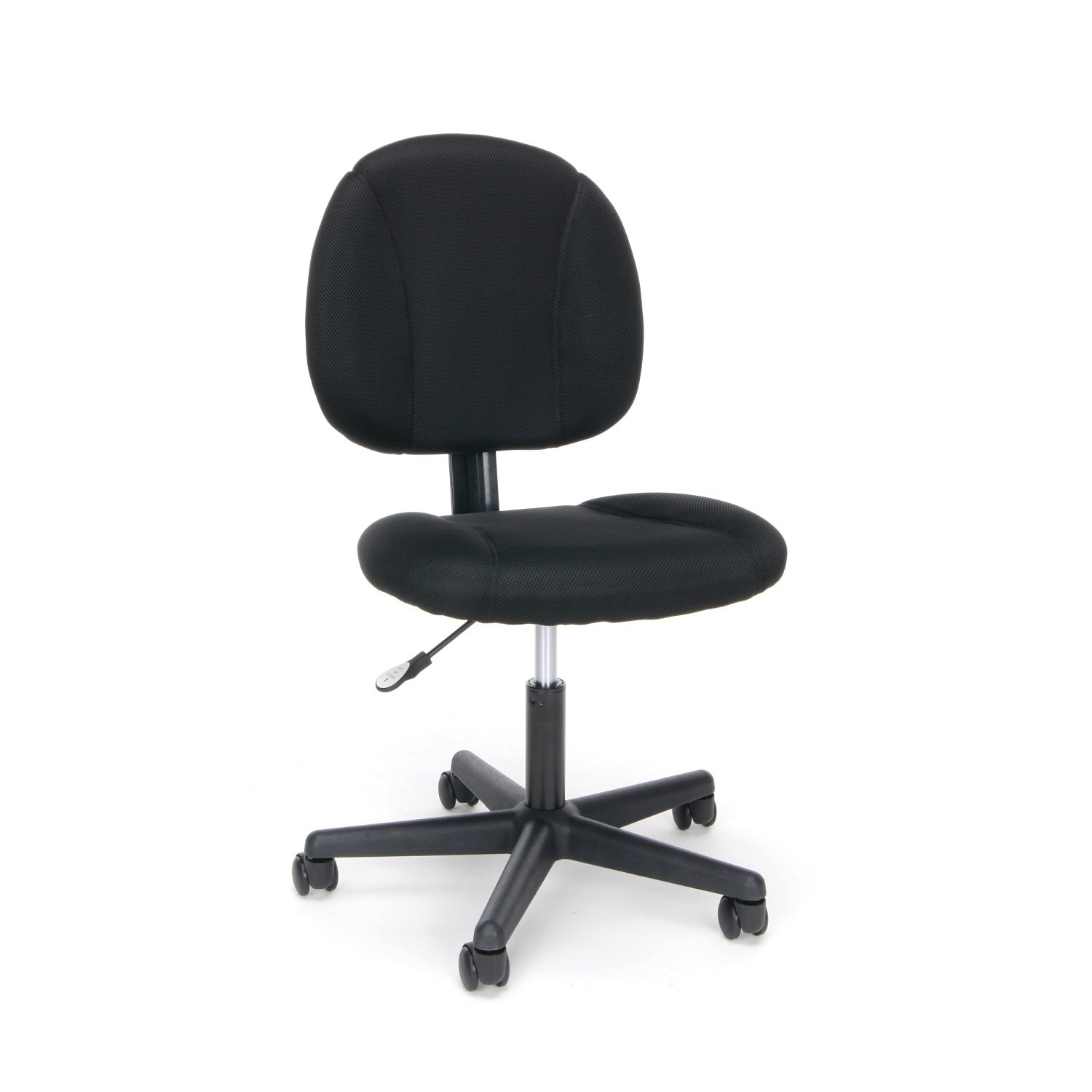 OFM Essentials Swivel Upholstered Armless Task Chair - Ergonomic Computer/Office Chair, Black (ESS-3060)