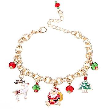 Schmuck Weihnachten.Hosaire 1x Weihnachten Armband Mode Weihnachtsbaum Weihnachtsmann Anhänger Armbänder Weihnachtsdeko Schmuck Bracelet Zubehör Armreifen