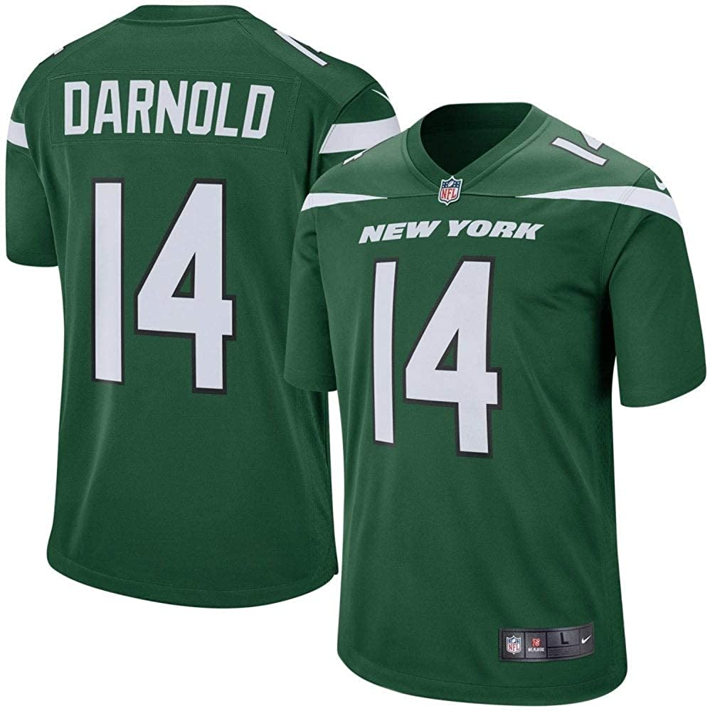 Nike Sam Darnold New York Jets Gotham Green Game Jersey Mens Medium