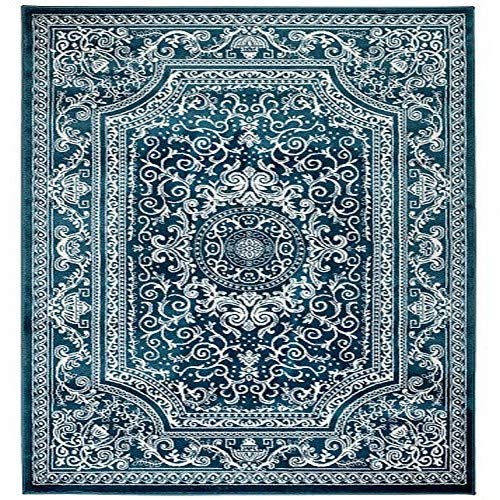 New Summit Elite S62 Blue and White Rug Antuque Style Tone on Tone 22 INCH X 7 Foot Long Hall Way Runner
