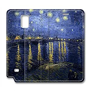 Vincent Van Gogh Design Leather Case for Samsung Note 4 Starry Sky wangjiang maoyi