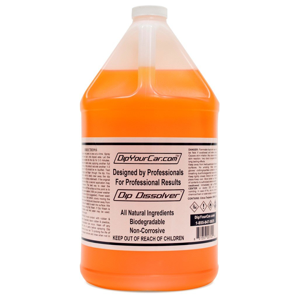 DipYourCar Dip Dissolver Gallon with FREE 32oz Bottle and Spray Nozzle by DipYourCar