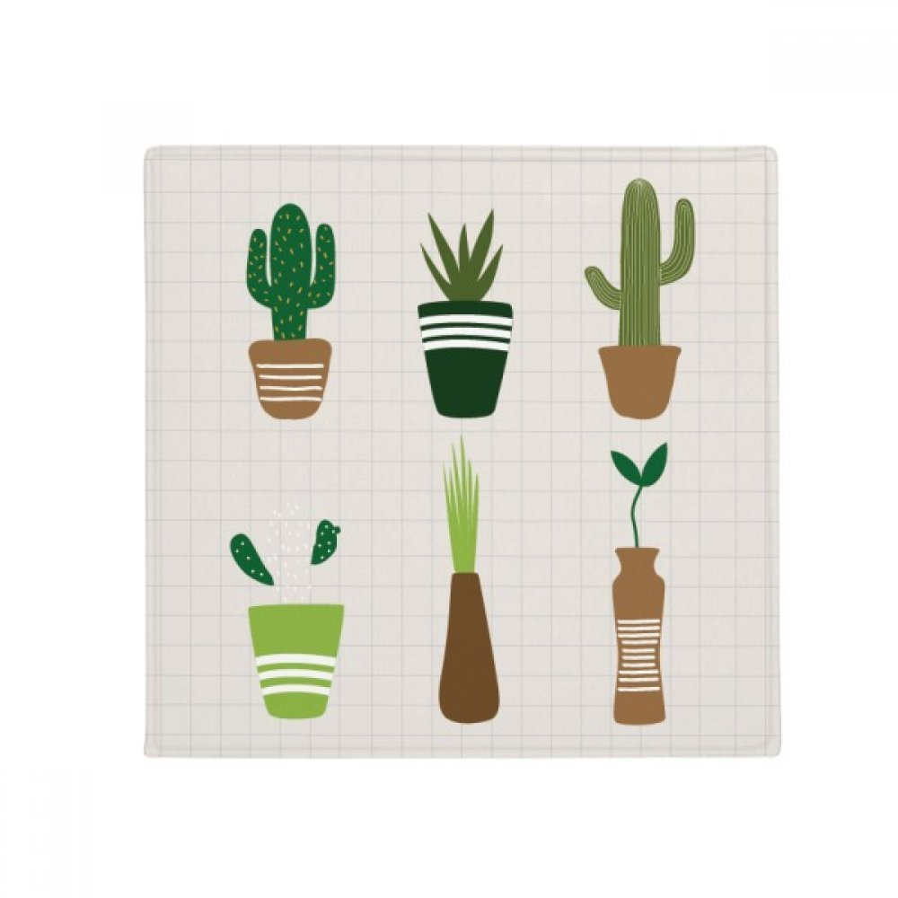 DIYthinker Cactus Potted Plant Succulents Anti-Slip Floor Pet Mat Square Home Kitchen Door 80Cm Gift