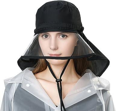 Waterproof Protection Rain Hats for Women Wide Brim Fishing Bicycle  Foldable Ladies Bucket Safari Crushable Black at Amazon Women's Clothing  store