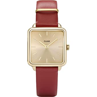 Cluse Reloj Analógico para Mujer de Cuarzo con Correa en Cuero CL60009: Amazon.es: Relojes