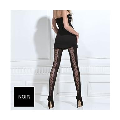 Pomm poire - Collant laçage 70 deniers noir Tentation - Femme - noir ... 0fe29a64a28