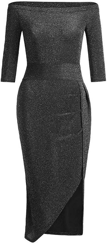 FRAUIT damska długa sukienka koktajlowa seksowna sukienka bez ramion z cekinami sukienka z haftem Shining Club płaszcz maxi sukienka solidna z wysokim rozcięciem podkreślająca figurę sukienka z d