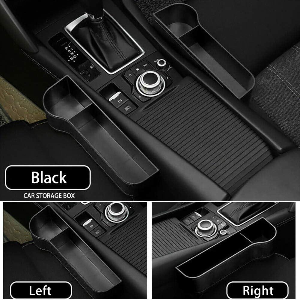 Car Seat Crevice Organiser Storage Box Pocket w//Cup Holder Side GreceYou 2 Pieces Car Seat Gap Catcher Pocket Black
