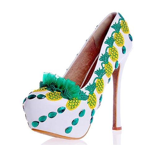 SZXC Mujeres Cerrado Pointedred Dedo Del Pie Estilete Zapatos De TacóN Alto Novia Bordados Rhinestones Vestido De Boda Bombas , 40: Amazon.es: Zapatos y ...