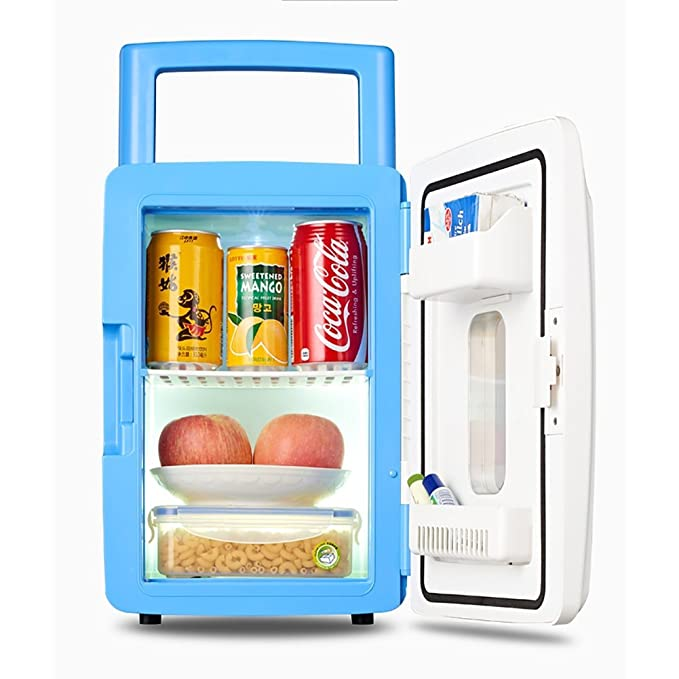 LE Frigoríficos mini Mini refrigerador del Coche 12L Auto casero Dormitorio portátil del Dormitorio del Estudiante refrigerador bajo refrigerado de la ...
