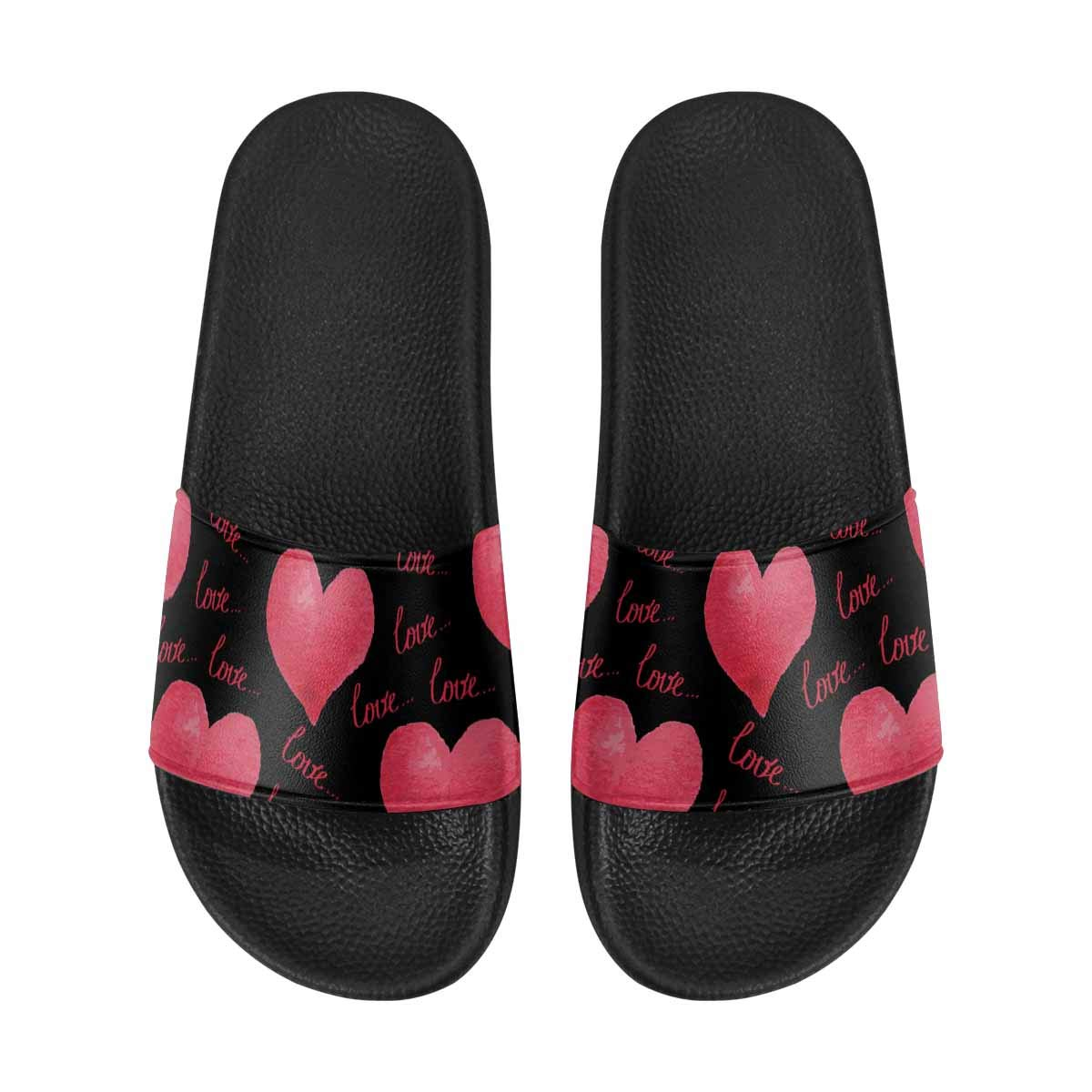 INTERESTPRINT Womens Casual Slippers Home Bathroom Slide Sandals US6~US12