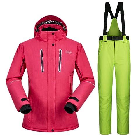 Zjsjacket Traje de Esqui para Mujer Trajes de esquí Marca de Nieve ...