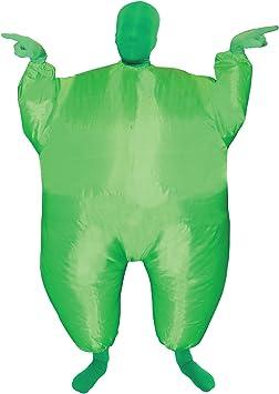 Morph Divertido Disfraz Inflable Verde Niños - Una talla le queda a la mayoría