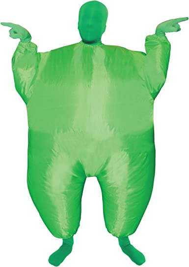 Morphsuits Costumes Green MegaKids Inflatable Blow Up Costume - One Size, megamorph Green Kids (MCKIGR)