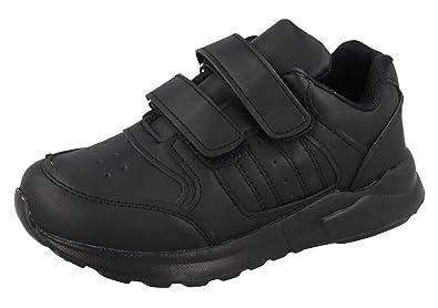 Baskets À Strong Chaussures D'école Velcro En Cuir Souls Simili R53jL4Aq