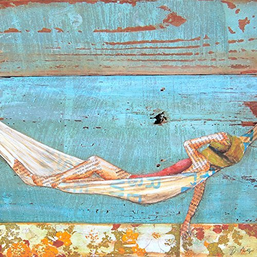 Activity of Soul Resting - Danny Phillips art print, UNFRAMED, Hammock ocean sailing coastal beach nautical art wall & home decor poster, ALL SIZES
