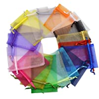 Tenlife 100pcs organza borse gioielli imballaggio sacchetti sacchetti per confetti, caramelle regalo buste 13x 18cm