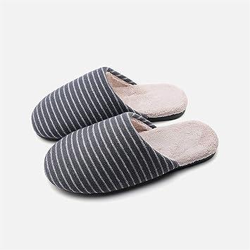 SLIPPERSXSJ Zapatillas De Algodón Zapatillas De Hombre Sencillas Y Cómodas. Zapatillas De Algodón De Algodón Cálido, 40-41 / 25Cm.: Amazon.es: Hogar