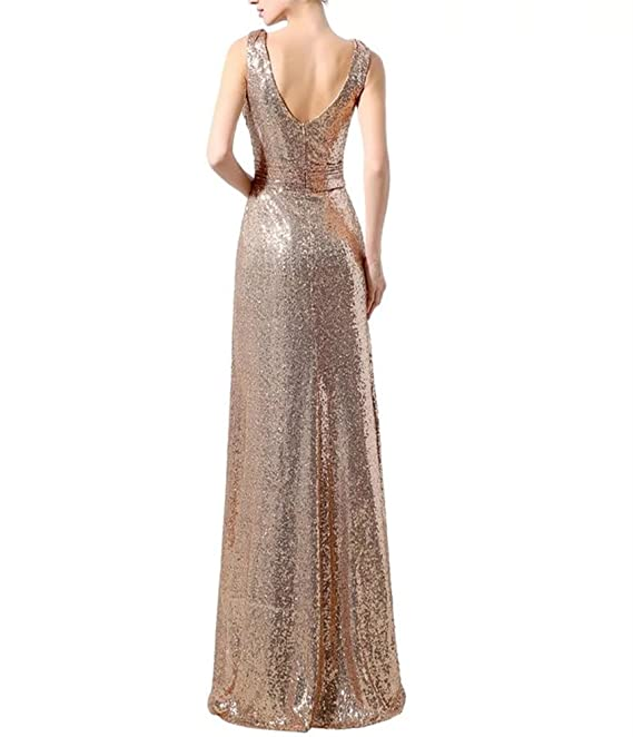 Lanier Gold Sequins Bridesmaid Dresses Formal Evening Gowns at ...