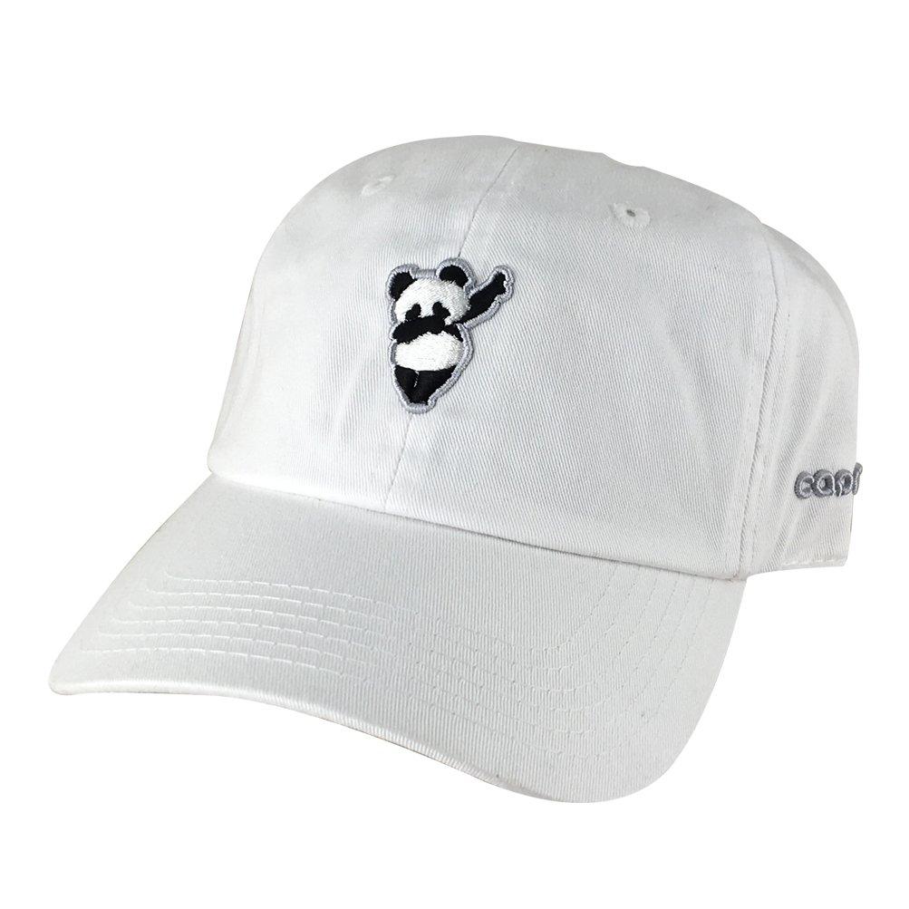 3D Panda Dabbing Dance Unstructured Baseball Cap Cotton Dad Hat White