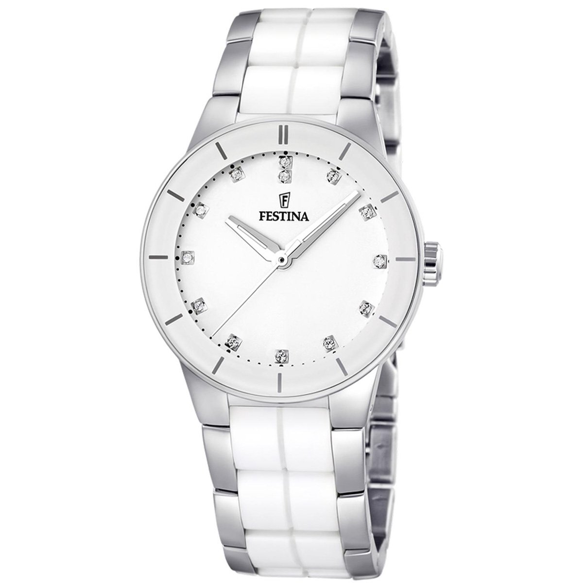 Amazon.com: Festina Womens F16531/3 White Ceramic Quartz Watch with White Dial: Festina: Watches