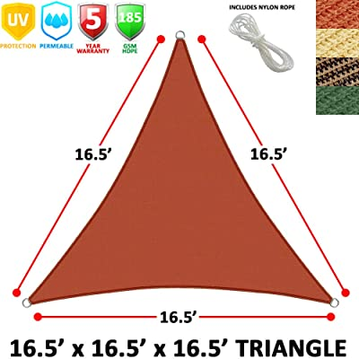 Modern Home Sail Shade Triangle (18' Sides) - Terracotta: Kitchen & Dining