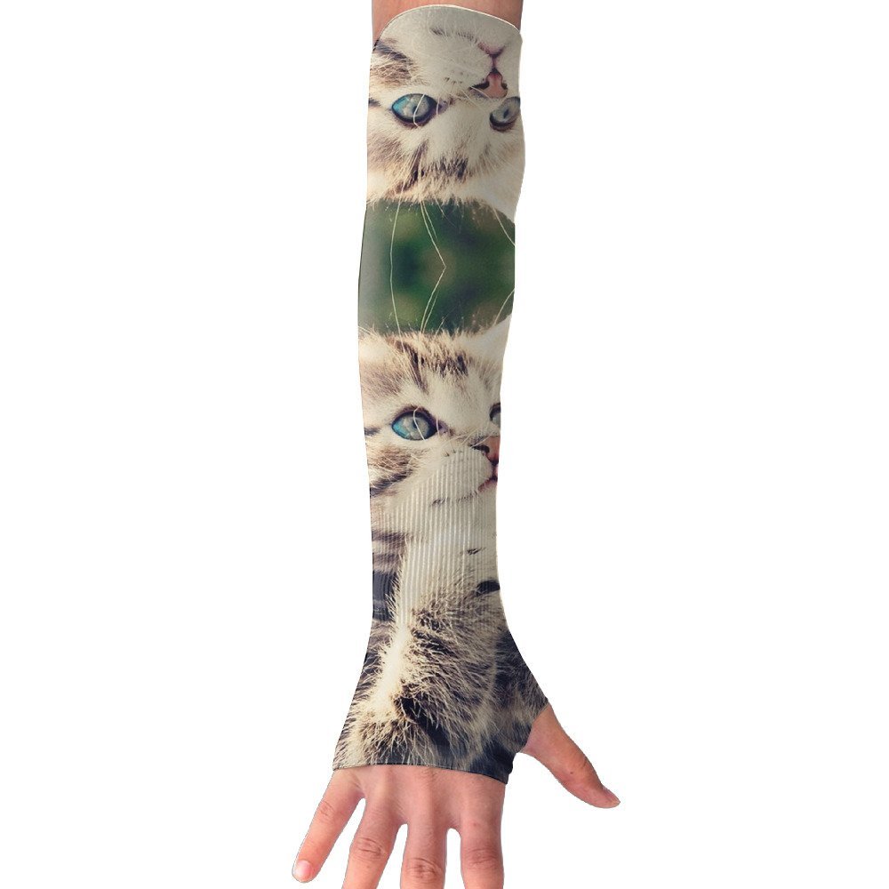 Suining Unisex Lovely Cat Wish Sunscreen Outdoor Sports Arm Warmer Long Sleeves Glove