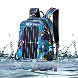 ECEEN Solar Backpack 20L Dry Bag With 7 Watts Solar Panel Charging for Tablet Camera Smart Cell Phone When Do Canoe Kayaking Swim Beach Hiking Boat Sailing Camping Fishing Snowboarding Sports